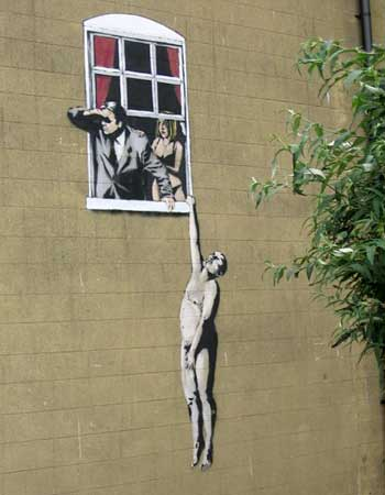 Banksy cheating wife